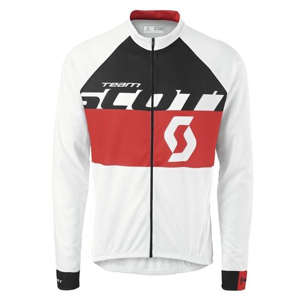 SCOTT team Mens Cyclisme À Manches Longues Maillot Sport Tops Vêtements de Sport en Plein Air Respirant Cyclisme À Séchage Rapide vêtements Q71026