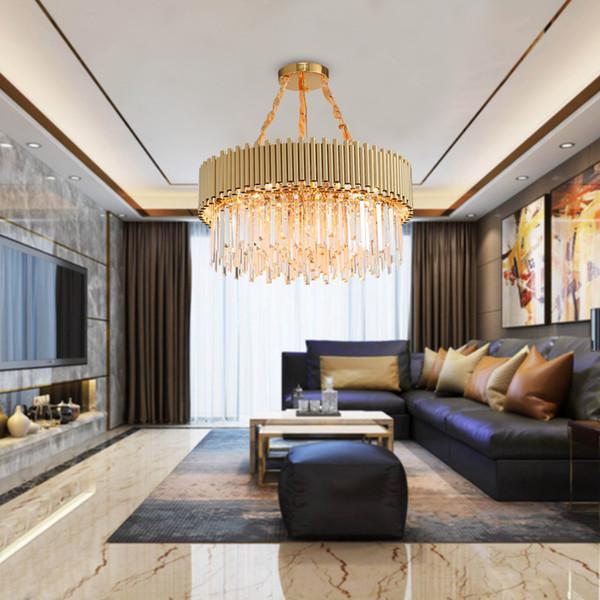 Großhandel Luxus Gold Kronleuchter Beleuchtung Moderne Wohnzimmer Kristall  Lampe Runde Unterputz Hängende Leuchte Für Esszimmer Von Yogurt, $377.44 ...