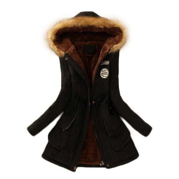 Kadın Kapşonlu Uzun Pamuk Ceket Rahat Bel Zayıflama Moda Yumuşak Kemer Kore Tarzı Kış Sonbahar Ceket Rahat Eğlence