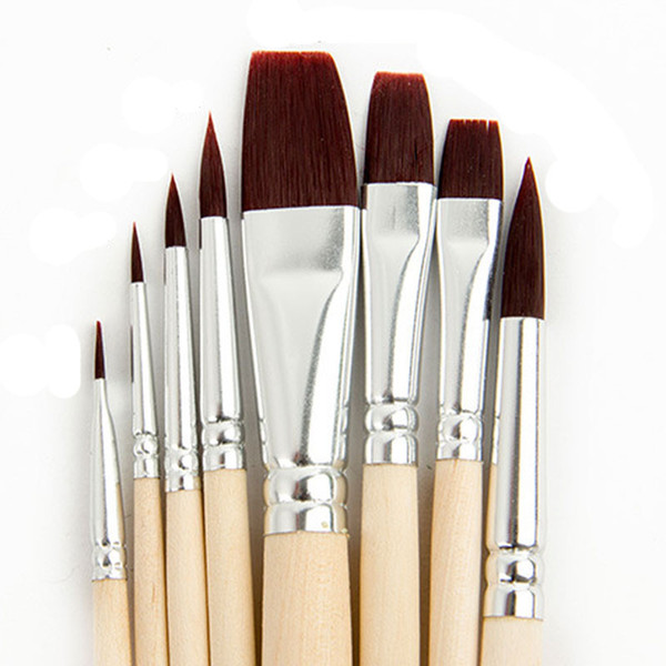 top popular 8pcs set Artist Paint Brushes Paintbrush Painting Brush Set for Watercolor Drawing Watercolor Brush Supplies Free Shipping 2021