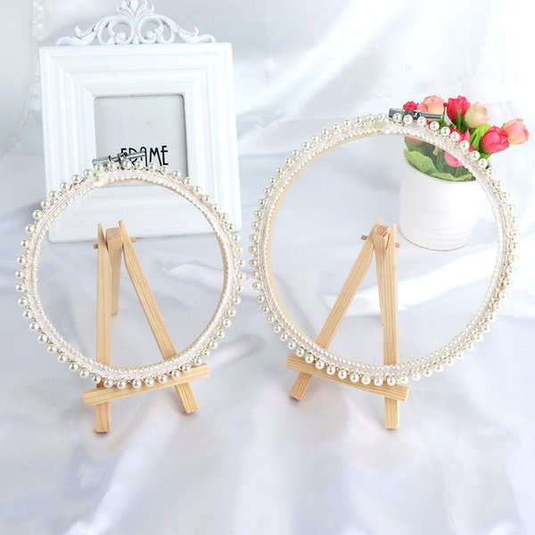 2 Size Sweet Fashion Girl Desktop Earrings Storage Lace Mesh Material Earrings Jewelry Photo Display Stand Accessories