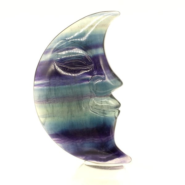 Sculpture en gros de pierre de fluorite de cristal de quartz d'arc-en-ciel mignonne naturelle