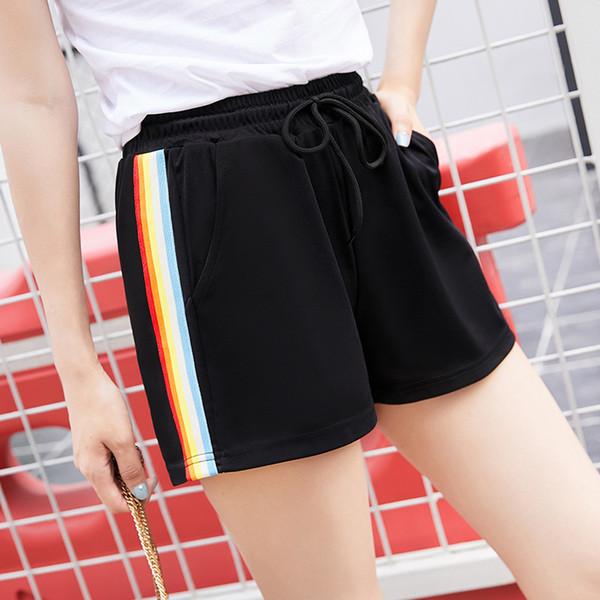 Venta caliente Estilo Europeo Mujeres Shorts Causal Cintura Alta de Algodón Sexy Home Short Women \ 's Fitness Shorts
