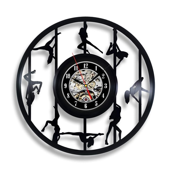 Handmade Solutions EU Pole Dancer Gift Wall Clock for Room Art Dancing Party Sticker Sign Strip Dance Bedroom Accessories Home Decor
