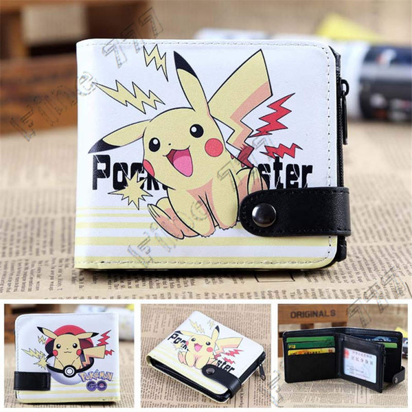 2019 yeni sıcak Pokemons anime büyük baş çanta renk düğmesi cüzdan 6 stil çocuklar için Sevimli Pikachu baskı cüzdan Hediye