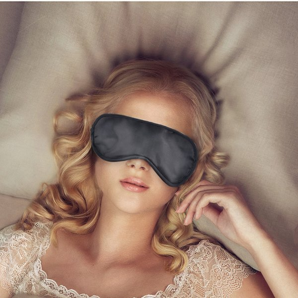 best selling Eye Sleep Masks Eye Mask Shade Nap Cover Blindfold Sleeping Sleep Travel Rest H1996 Black by dhl(0612001)
