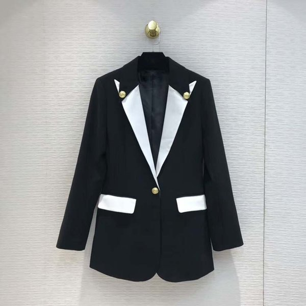 Femmes 2019 fashion blazers slim manteaux at190207