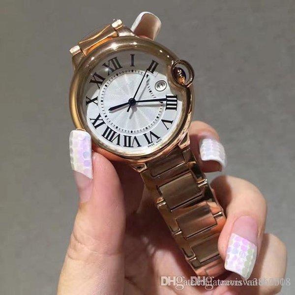 c708b7fad70 Luxo Top Marca Senhora Relógios de Moda de Ouro de Aço Inoxidável Mulheres  Relogio Feminino de
