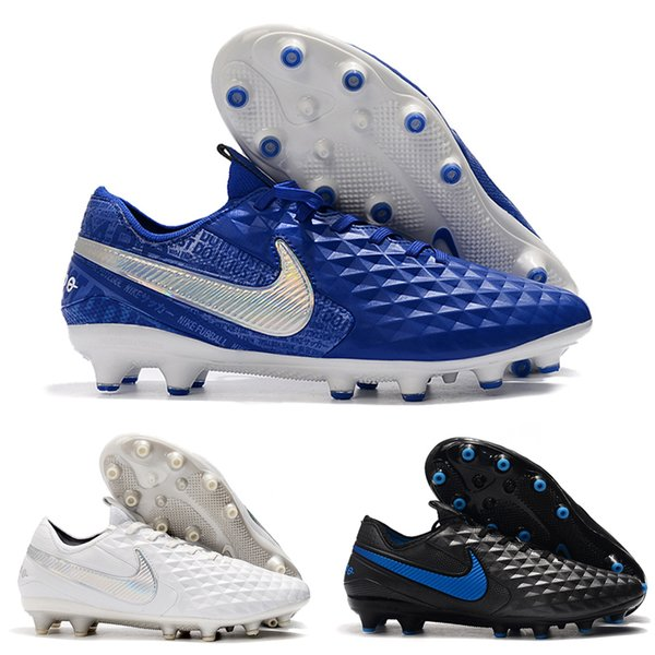 2019 Top Quality Mens Soccer Shoes Tiempo Legend 8 Elite AG Soccer Cleats Outdoor Football Boots Leather Botas De Futbol 02 Sneaker For Kids Youth