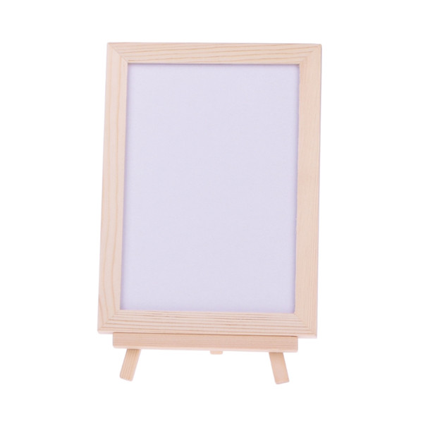 Desktop Wood Frame Double Sided Whiteboard Easel White Memo Board Child Kids Toy