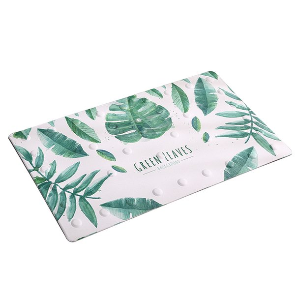 Eco-friendly Shower Pad Indoor Home Practical Gift PVC Soft Bath Mat Accessories Rectangle Suction Cup Anti Slip Bathroom