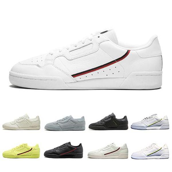 Acquista Adidas Yeezy Boost Powerphase Calabasas Continental 80 Scarpe Casual Triple Bianco Nero Rosa Giallo Donna Uomo Trainer Sport Outdoor Sneakers