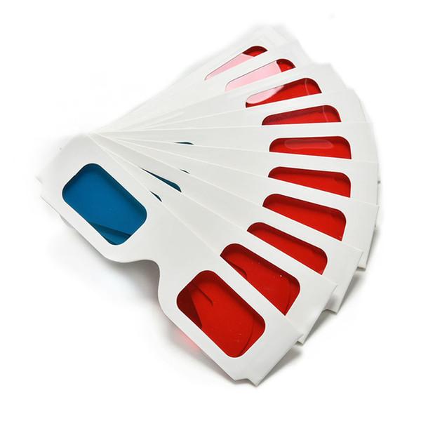 Anaglifo de papel universal de los vidrios 3D Vidrios de papel 3D anaglifo rojo cian rojo / azul de cristal 3D para la película RRA2095