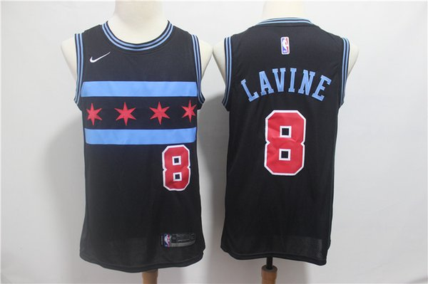newest collection 473d3 6fe61 2018 2019 New Mens 8 Zach LaVine Chicago Bulls Basketball Jerseys Stitched  Embroidery Mesh Dense AU Bulls 34 Wendell Carter Jr. Basketball Jersey From  ...