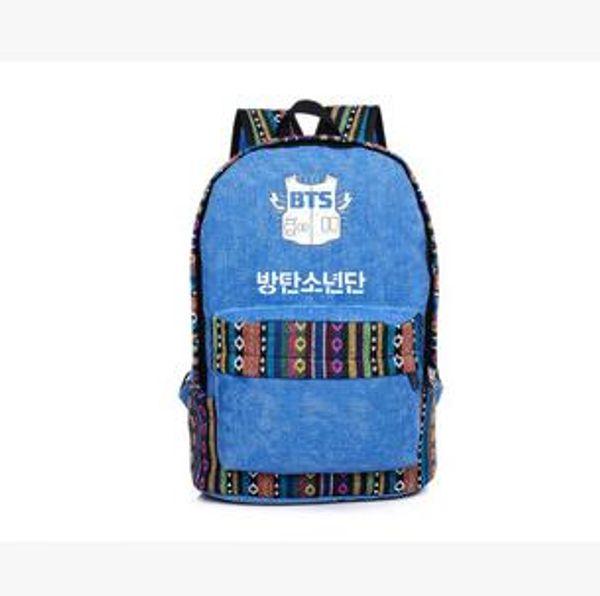 Tasarımcı-Yeni varış kpop Bangtan Boys BTS grup National'ın okul çantası kore sırt çantası
