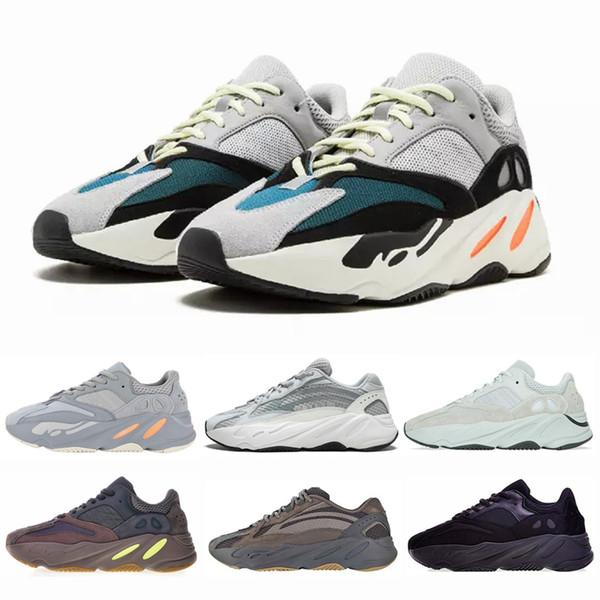 Vanta réfléchissant coureur de vague 700 V2 Hommes Chaussures de course Kanye West Geode statique Sel Mauve Inertie Utility Femmes Noir Chaussures de sport Chaussures de sport