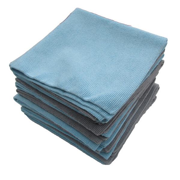 1pc car wash polishing waxing cleaning towel blue/gray 40x40cm soft microfiber auto polishing waxing cleaning towel
