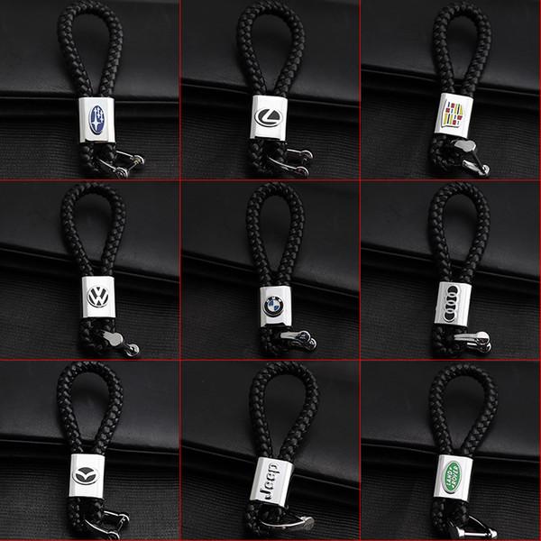 2 Pieces 3D Car Logo Keyring Keychain Auto Key Ring Key Chain Holder Keyfob For Lexus Volkswagen BMW Audi GMC Mazda Car Styling Accessories