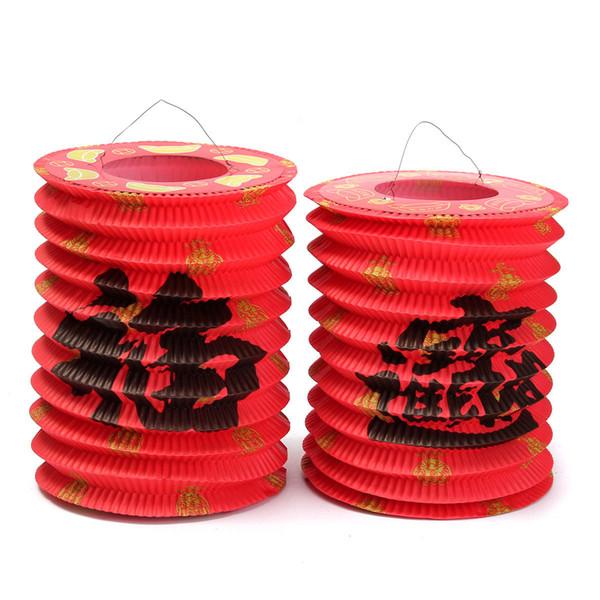 10pcs chinois asiatique suspendus papier lanterne coutume tradition mi-automne festival / nouvel an célébrer la décoration de fête