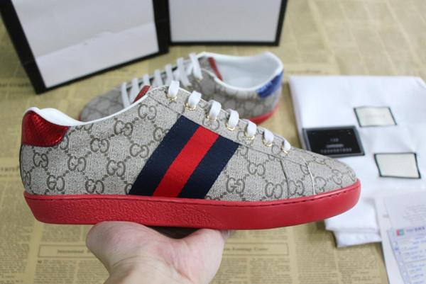 Luxus mode Designer Schuhe Herren Damen Snake ACE Echtes Leder Designer Sneakers Beste Geschenk flache stiefel bequeme Casual Schuhe