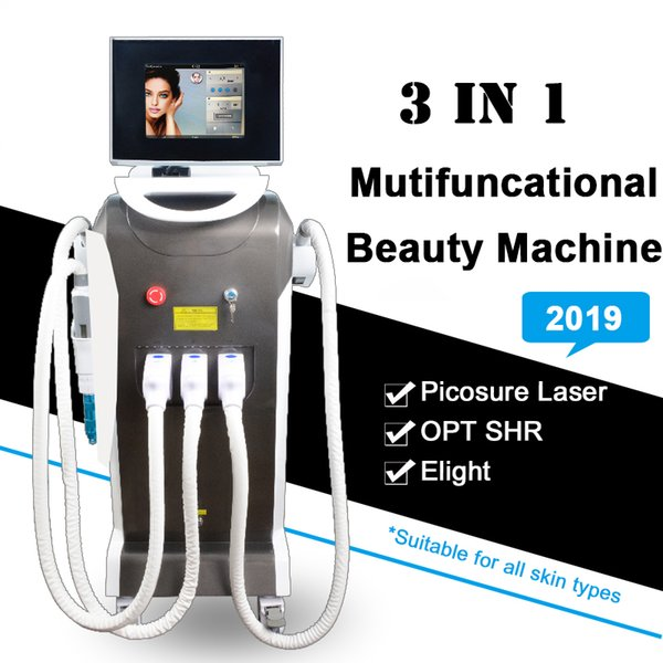 Multi-functional OPT SHR laser Fast hair removal Equipment IPL Eight Acne Therapy Picosecond Tattoo Removal IPL Laser Machine