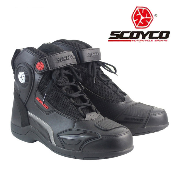Riding Motorcycle Ankle Boots Anti-skid Sport Racing Shoes Motocross Off-Road
