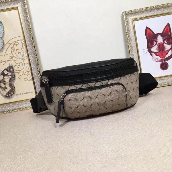 best selling Classic style mini men and women Waist Bags genuine Leather Bag women fanny pack printed designer Waistpacks for men 450946