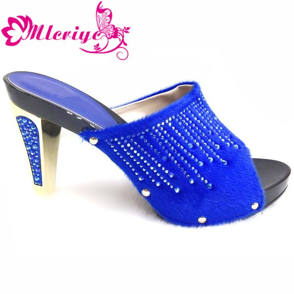 204-2 blue New Arruval Sexy Ladies Shoes Party Wedding Shoes Decorated with Rhinestone Elegant Slip on Women Lady Pumps Shoe