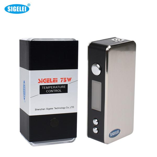 Modulo de caja de cigarrillo electrónico de 75W Sigelei Mod. Mod. Modo de potencia / temp. Hilo 510 sin batería 18650