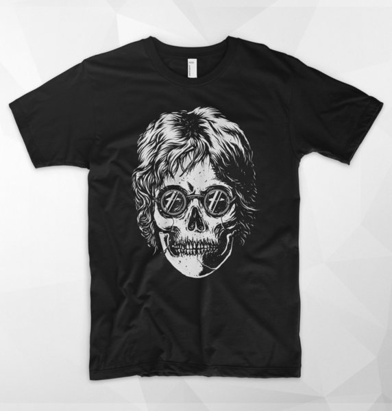 John Lennon Skull Skeleton T Shirt Top Gift The Beatles Paul McCartney Rock Roll Harajuku Summer 2018 Tshirt Colour Jersey Print T Shirt