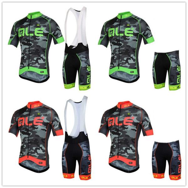 2019 NEW ALE Uomo Cycling Jersey (Bib) Pantaloncini Pro Cycling Set Maglia da ciclismo da uomo traspirante Kit maillots ciclismo hombre