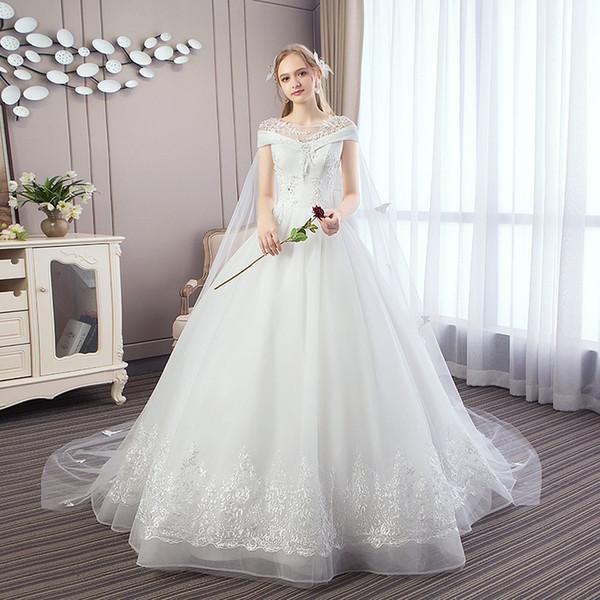 Trailing Wedding Dress Hot Dress Bride Wedding Dress Wholesale