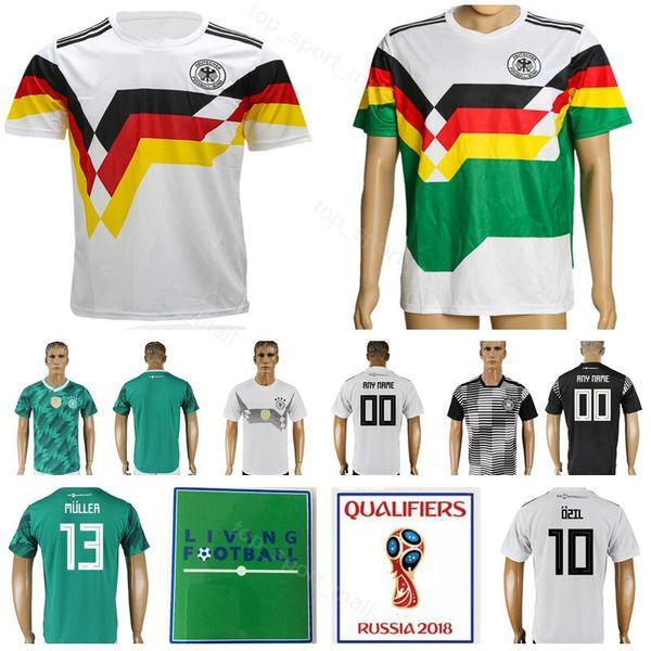 Men 1990 1980 Vintage Soccer Jersey Germany Football Shirt Kits 2018 World Cup 10 Matthaus 18 Klinsmann 3 Podolski 11 Rummenigge 13 Voller