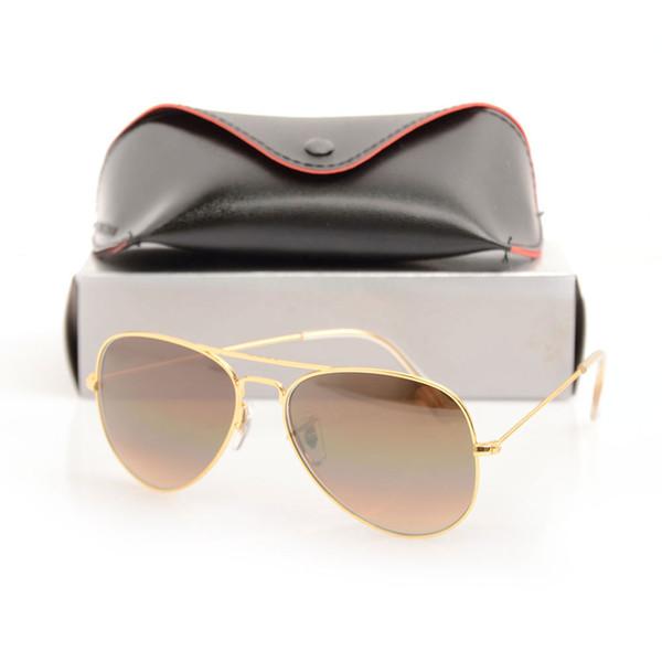 High Quality Pilot Sunglasses Mens Designer Sun glasses Gradient Glass Lens 58mm Lens Glasses Eyewear For Womens glasses with Original cases