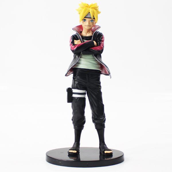 2019 novo 23 cm Naruto Uzumaki Boruto figura de ação modelo de brinquedo com base preta anime Naruto Uzumaki Naruto Uzumaki filho Boruto figura PVC brinquedo