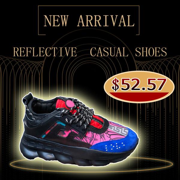2019 nouvelle réaction en chaîne designer chaussures de sport chaussures de haute qualité vert rouge blanc chaussures de sport en plein air taille 36-44 bateau libre