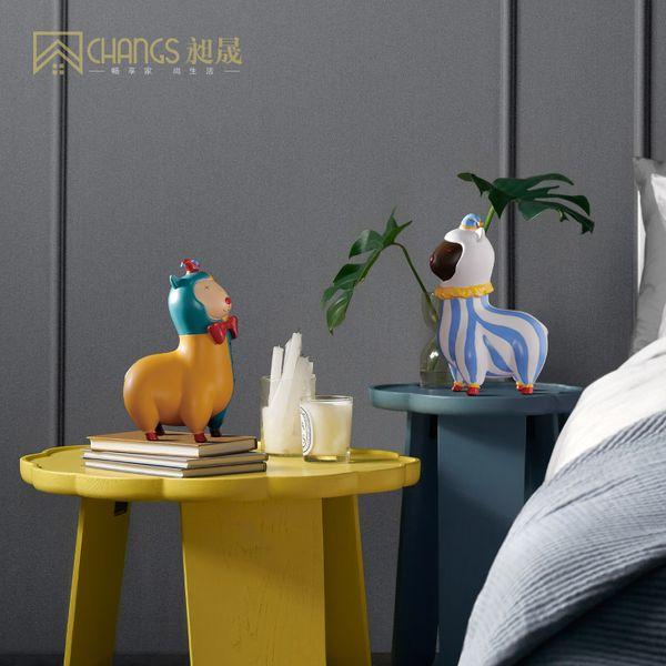 Nordic Creative Chèvre Ameublement Maison Salon Chambre pour enfants Chambre modèle Résine Ameublement Décorations animalière