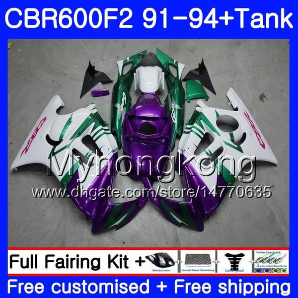 Corpo + serbatoio per HONDA CBR 600F2 CBR600FS CBR600F2 91 92 93 94 288HM.20 CBR 600 F2 FS Viola bianco CBR600 F2 1991 1992 1993 1994 Kit carena
