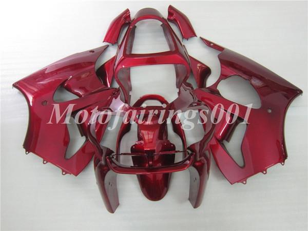 Calidad OEM Nuevos kits de carenados de moldeo por inyección de ABS 100% aptos para Kawasaki Ninja ZX-6R ZX6R 636 2000 2001 2002 Juego de carrocería Todo rojo Oscuro