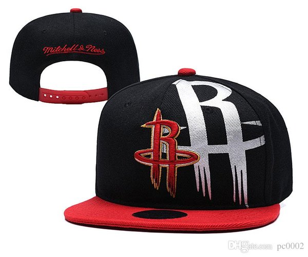 Men's Youth Rockets New Red/Black Two-Tone Black White 9FIFTY Snapback Adjustable Hat