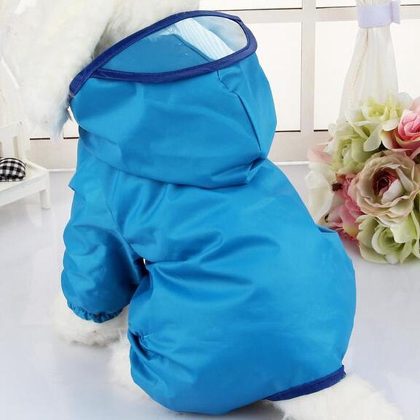 Waterproof Dog Rainwear Teddy rain coat pet clothes for small dogs Poncho Puppy Dog jumpsuit Clothing Spring Summer Raincoat