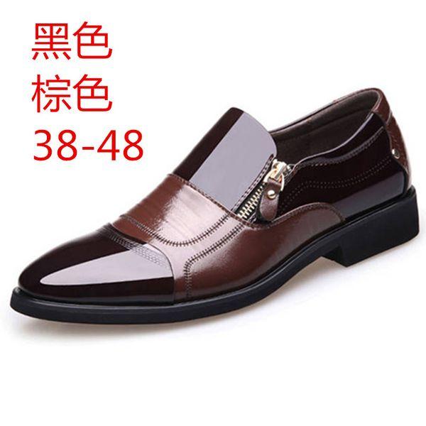 New men business shoes pointed head dress men's shoes large size mens dress zapatos de hombre formal
