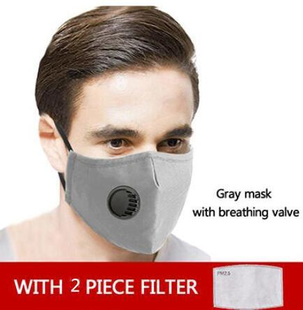 1pcs gris masque + 2pcs filtres