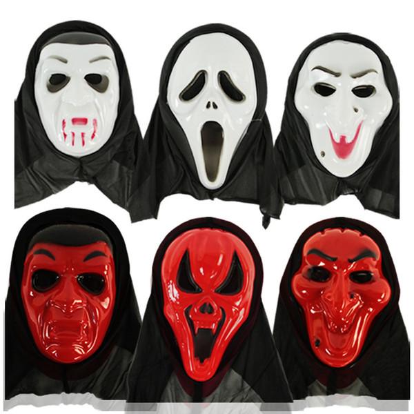 11styles pvc masks horror skull halloween party decor masks Screaming skeleton grimace props full face for men women FFA2745