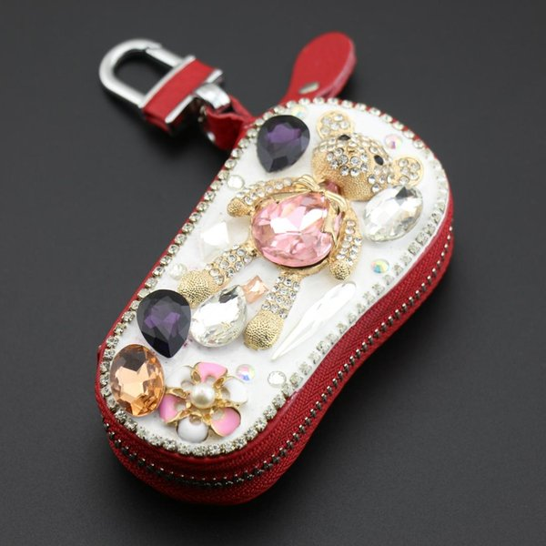 New Cute Crystal Rhinestone Hello Kitty Key Chain Perfume Bottle