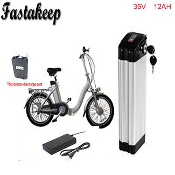 Inferior de descarga ebike 36 v bateria bicicleta elétrica von bateria 36 V 12Ah zu 36 V bafang / 8fun 500 mit motor com Caixa De Alumínio + Ch