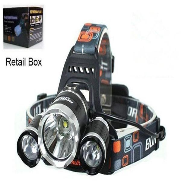 Boruit 8000LM 3 x XM-L L2 LED Headlight Headlamp FISHING CAMPING Head Torch Flashlight USB Lamp RHL001