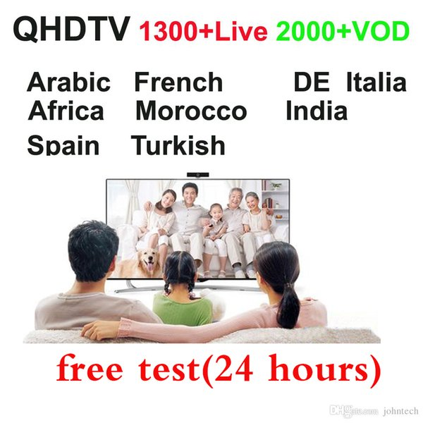 one year QHDTV Arabic Sports Italy Germany 1300+ Europe IPTV Arabic Iptv Channels Streaming IPTV Account Apk for Android MAG250 M3u