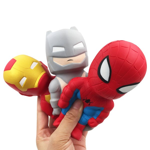 top popular Squishy Avenger Iron Man Captain America Toys Squishy Slow rebound Simulation Funny Vent Christmas toy 2020