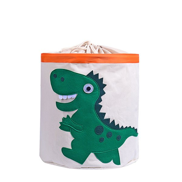 2019 new arrived oxford storage bag children toys cartoon storage bag Dinosaur printing Cylindrical bag Washable Dirty Laundry Baskets